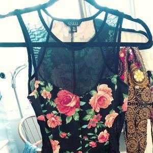2/$80 Guess xs sexy flowery and see-through blouse